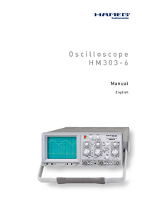 Manual del usuario Hameg HM303-6