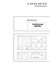 Обслуживание и Руководство пользователя Hameg HM205-2