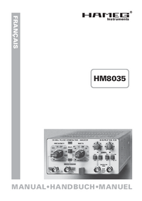 User Manual Hameg HM8035
