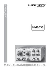 Manuale d'uso Hameg HM8035