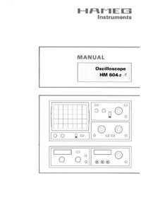 Bedienungsanleitung Hameg HM604