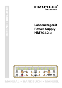 Manual del usuario Hameg HM7042-3