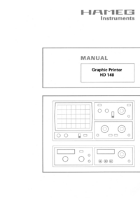 User Manual with schematics Hameg HD148