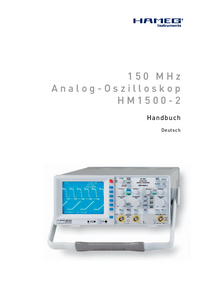 Manual del usuario Hameg HM 1500-2