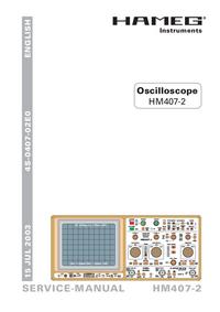 Instrukcja serwisowa Hameg HM407-2