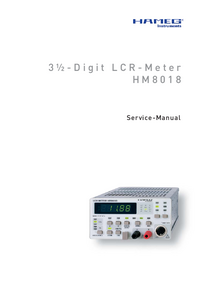 Service Manual Hameg HM8018
