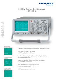 Dane techniczne Hameg HM303-6