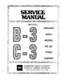 Service Manual Hammond B-3