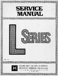 Service Manual Hammond L-100A