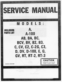 Manual de servicio Hammond G-V
