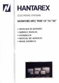 Manual de serviço Hantarex MTC 9000