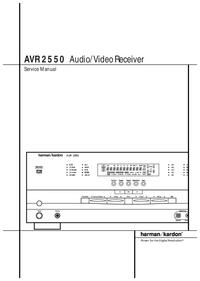 Instrukcja serwisowa HarmanKardon AVR 2550
