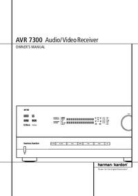 Manual del usuario HarmanKardon AVR-7300
