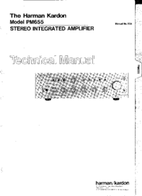 Servicehandboek HarmanKardon PM655