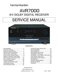 Manual de servicio HarmanKardon AVR7000
