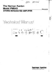 Manual de serviço HarmanKardon PM645
