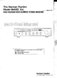 Manual de serviço HarmanKardon hk440 Vxi