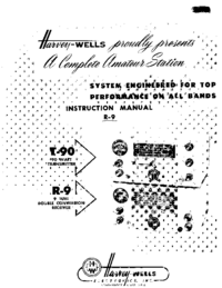Servicio y Manual del usuario Harvwels R-9
