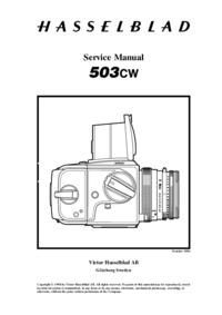 Manual de serviço Hasselblad 503CW