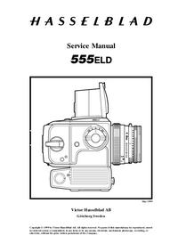 Instrukcja serwisowa Hasselblad 555ELD