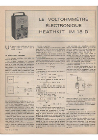Manual de servicio Heathkit IM 18 D