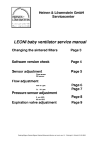 Service Manual HeinenLöwenstein Leoni