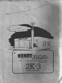 Servicio y Manual del usuario Henry 2K-3
