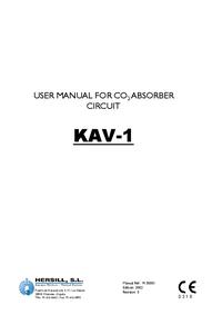 Manual del usuario Hersill KAV-1