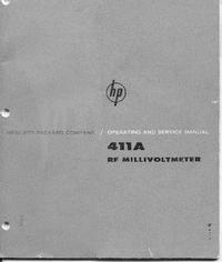 Service et Manuel de l'utilisateur HewlettPackard 411A
