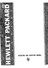 Service and User Manual HewlettPackard 434A