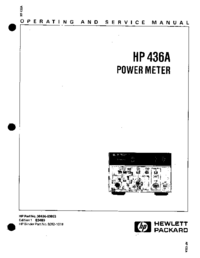 Serwis i User Manual HewlettPackard 436A