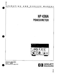 Service-en gebruikershandleiding HewlettPackard 436A