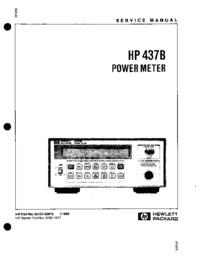 Manual de servicio HewlettPackard 437B