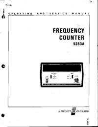 Service-en gebruikershandleiding HewlettPackard 5383A