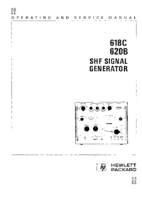 Service and User Manual HewlettPackard 618C