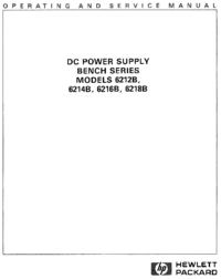 Service and User Manual HewlettPackard 6216B