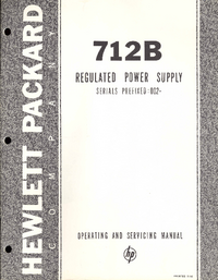 Service and User Manual HewlettPackard 712B
