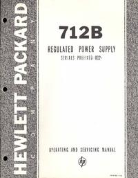 Servizio e manuale utente HewlettPackard 712B