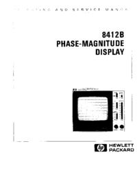 Servizio e manuale utente HewlettPackard 8412B