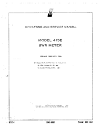 Service and User Manual HewlettPackard 415E