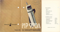 Serviço e Manual do Usuário HewlettPackard 970A