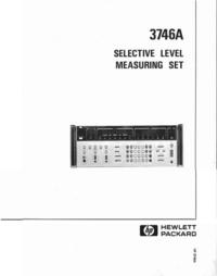 Руководство по техническому обслуживанию HewlettPackard 3746A