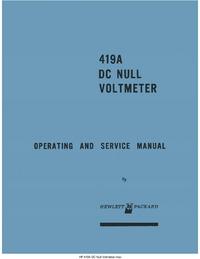 Service-en gebruikershandleiding HewlettPackard 419A
