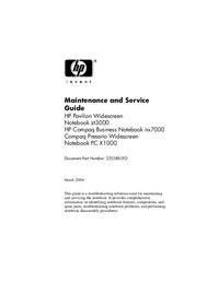 Руководство по техническому обслуживанию HewlettPackard Compaq Presario PC X1000