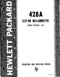 Service-en gebruikershandleiding HewlettPackard 428A