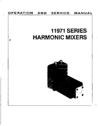 Service and User Manual HewlettPackard 11971