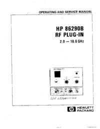 Serviço e Manual do Usuário HewlettPackard HP 86290B