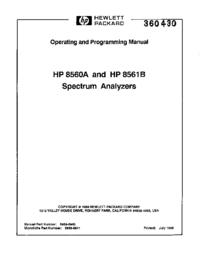 Manual del usuario HewlettPackard 8560A