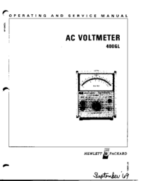 Service Manual HewlettPackard 400GL