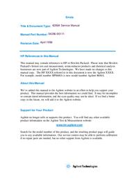 Manual de servicio HewlettPackard 4286A